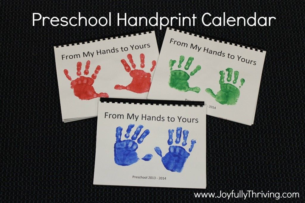 Kindergarten Calendar For Parents : How to make a handprint calendar gifts parents and