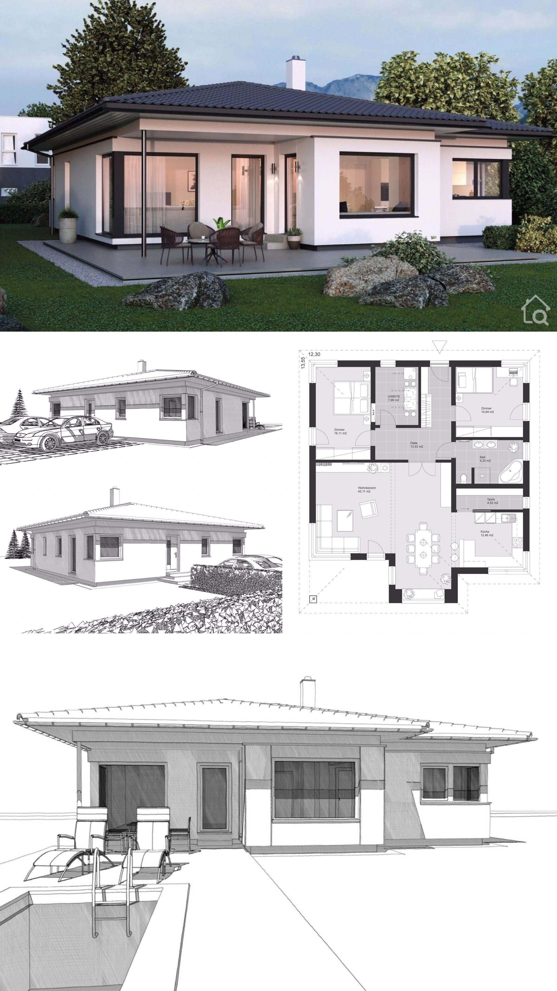 Bungalow House Design Modern Contemporary European Style Floor