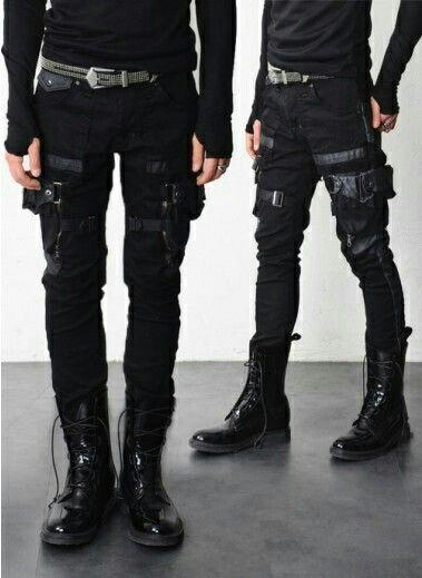Combat Cargo pants menswear post apocalyptic fashion health goth streetwear  neo punk futuristic style fb7c54554f0