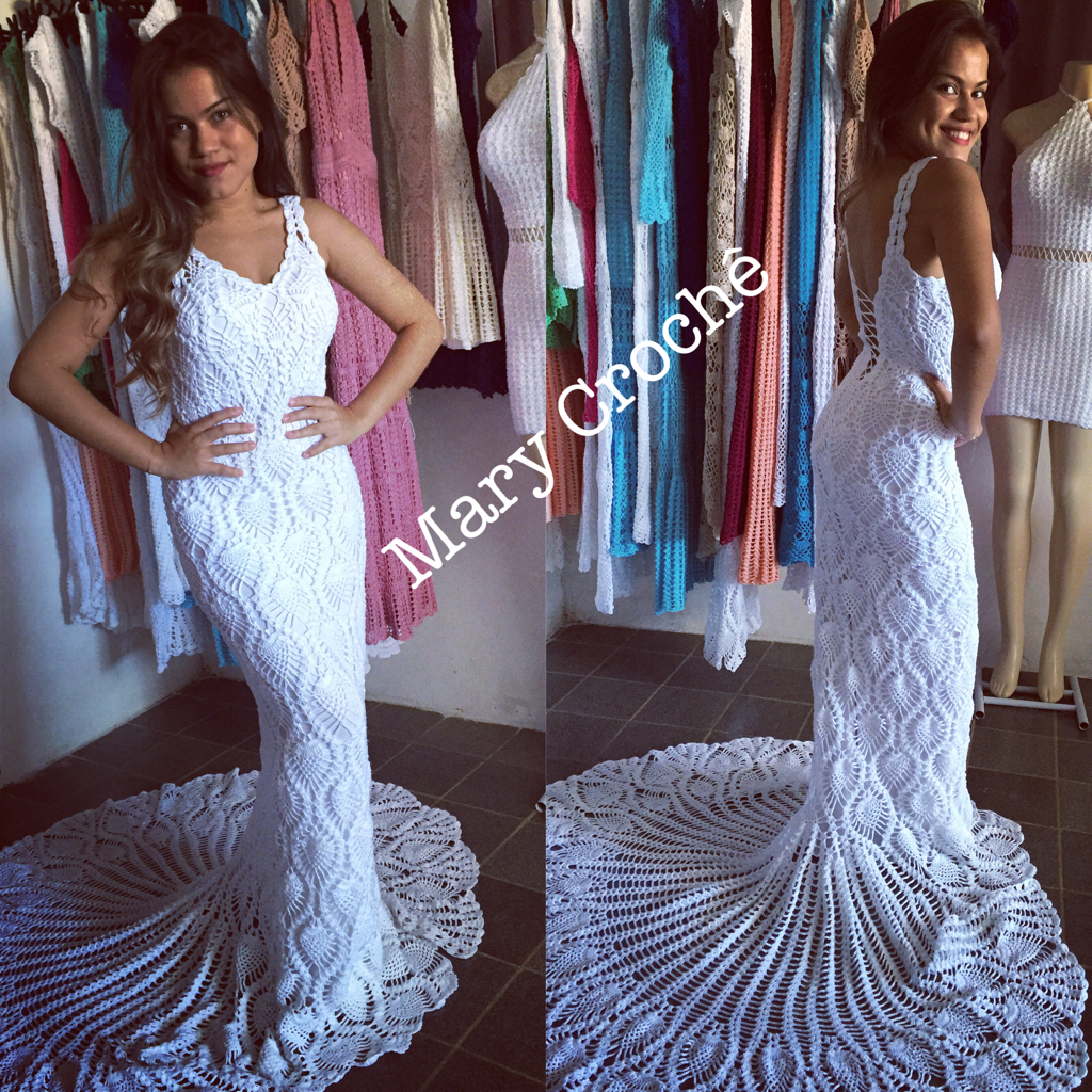 7a4751b20 Simplesmente maravilhoso Vestidos Para Senhoras, Vestidos De Crochê,  Casamento De Crochê, Mary Croche