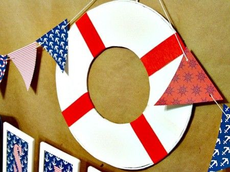 Life preserver prop 450x337 Sail Away Nautical Party   all things ...