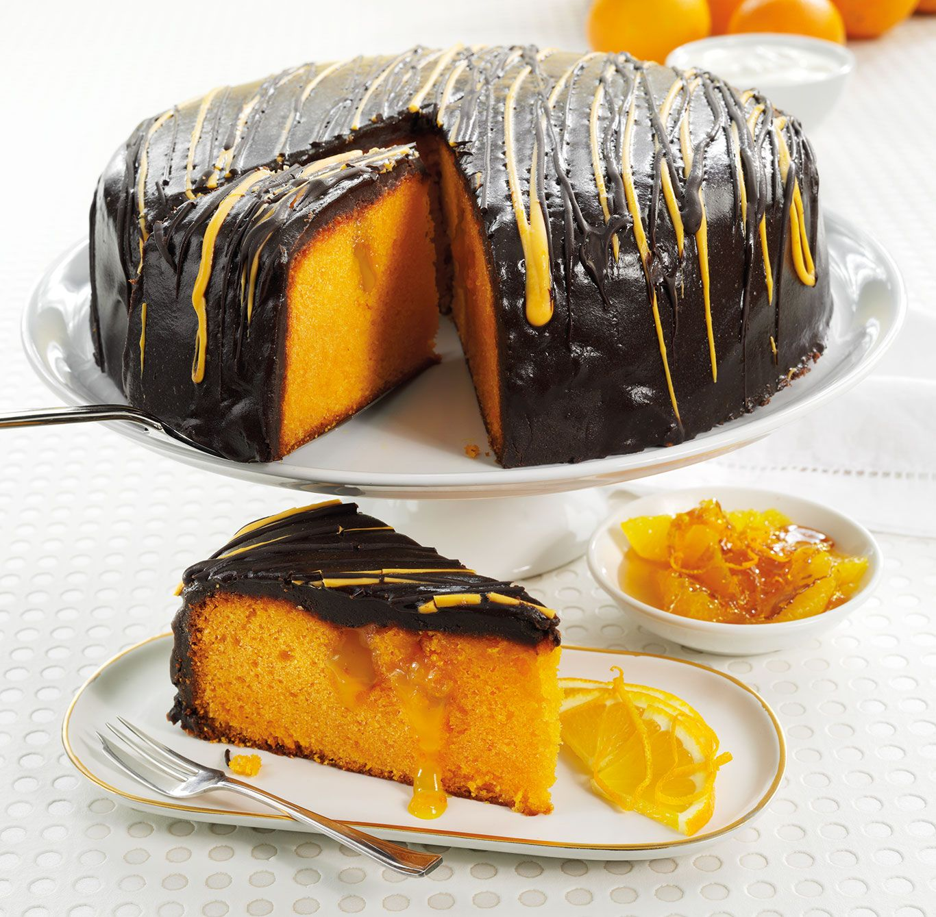 A Moist And Gooey Orange Sponge With Pockets Of Sticky