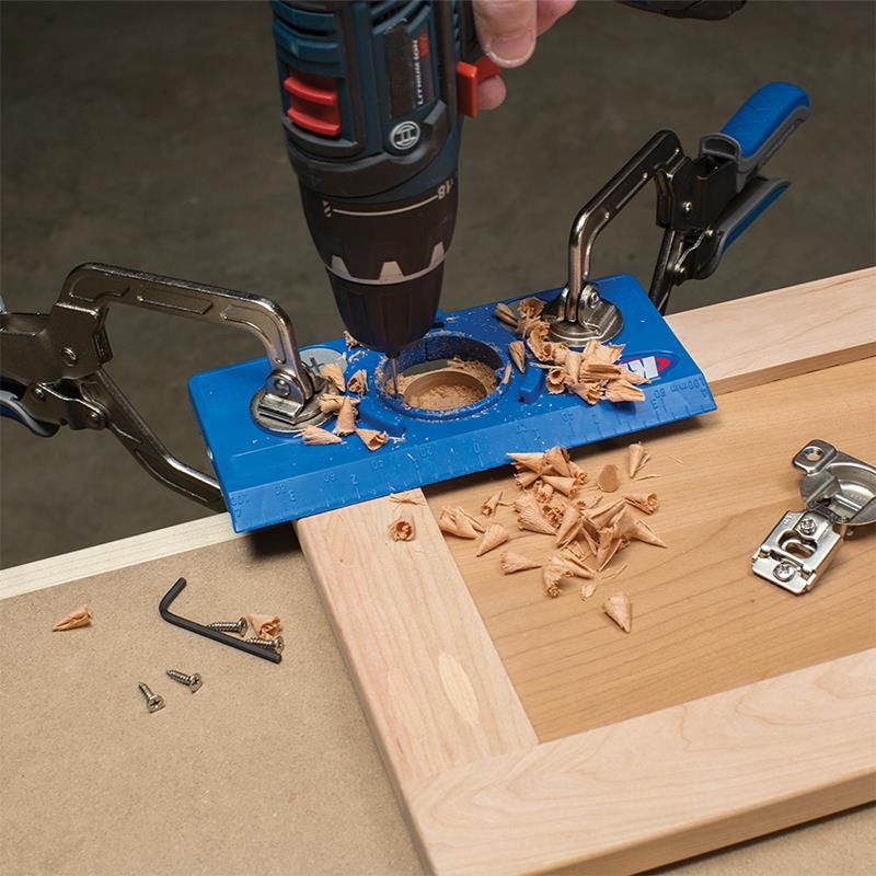 Concealed Hinge Jig Woodworking Jigs Learn Woodworking Woodworking Shop