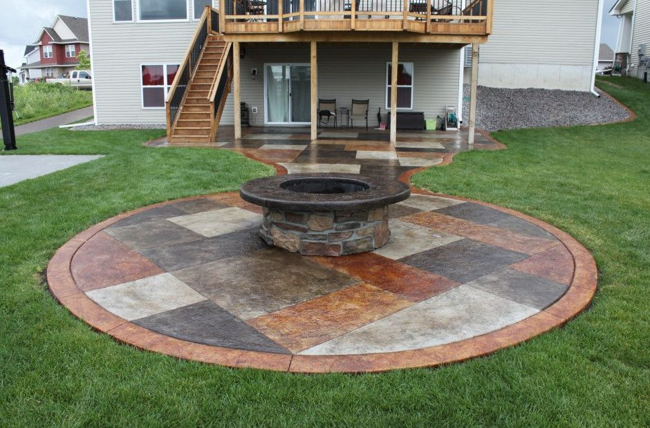 Unique Painted Concrete Patios And Concrete Patio Paint Ideas ...