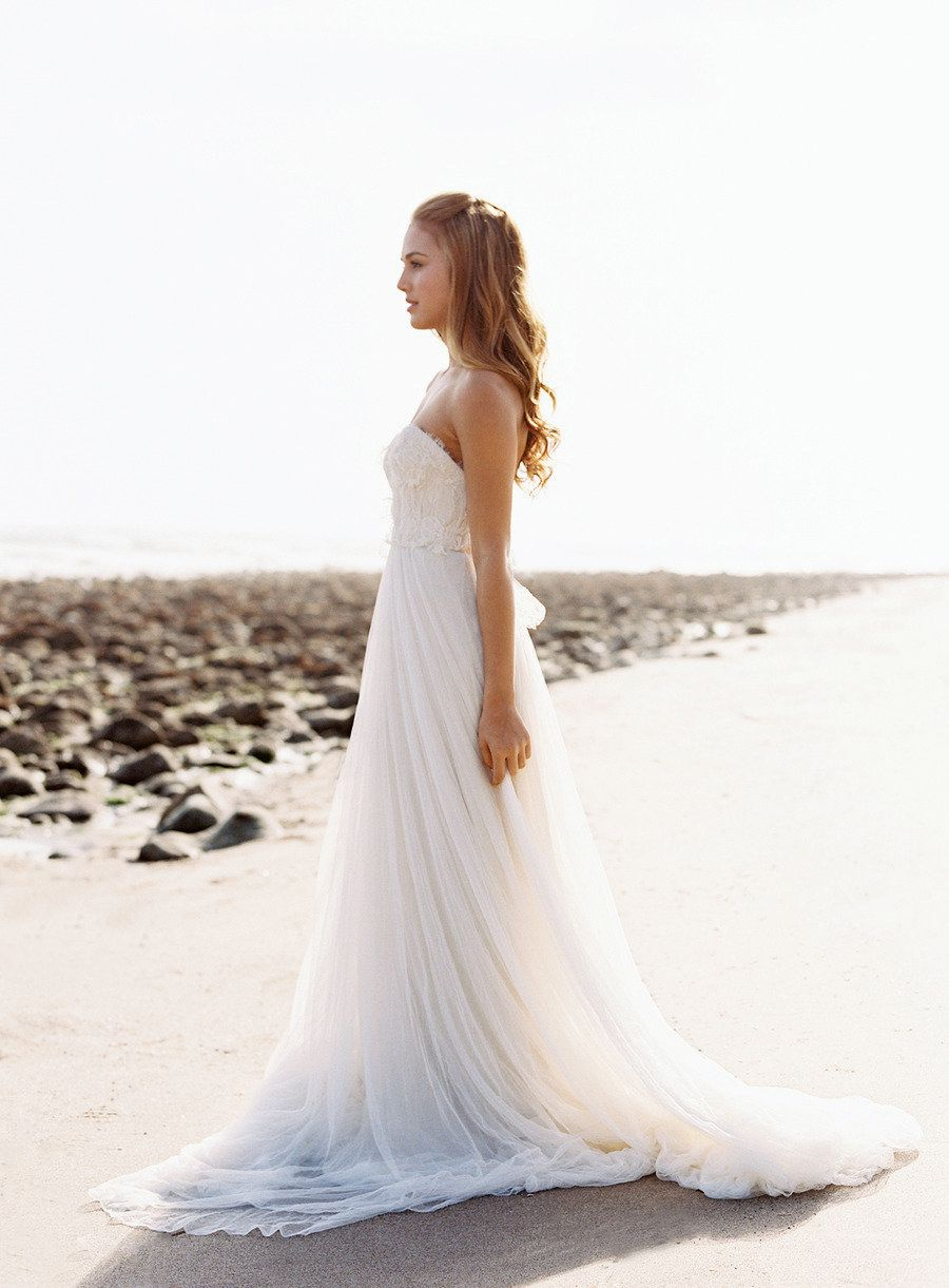 Nautical Wedding Inspiration From Jose Villa Photography Sweetheart Neckline Wedding Dress Lace Beach Wedding Dress Bridal Dresses Lace