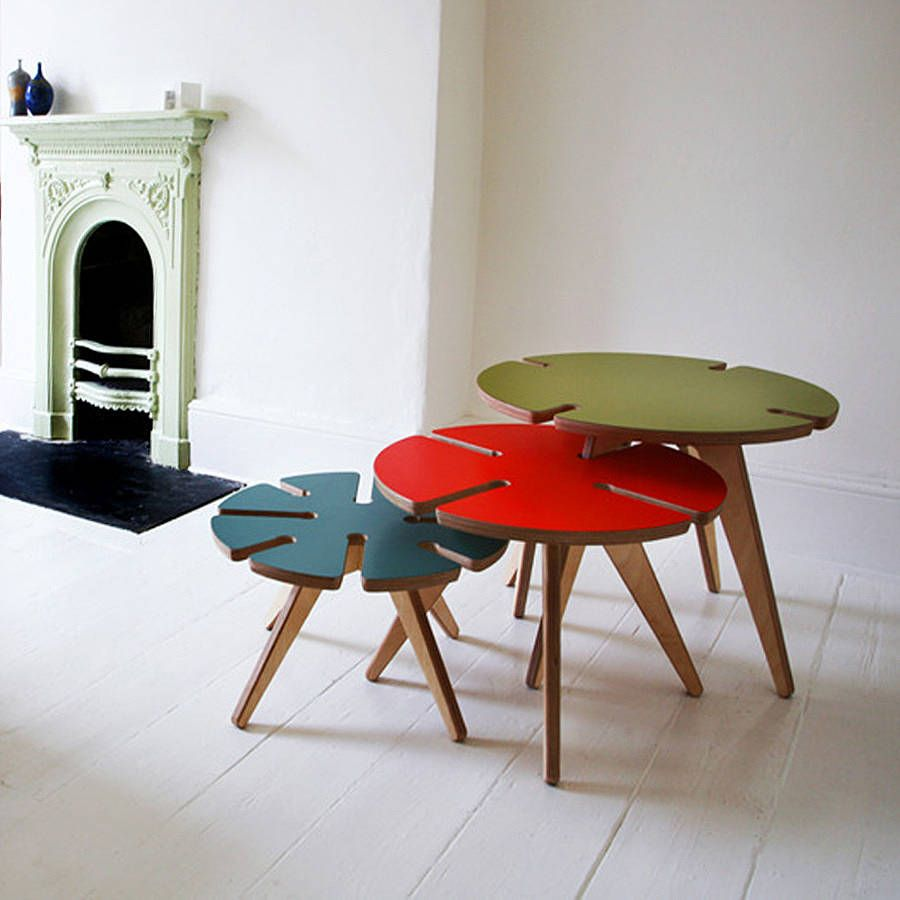Stylish yet practical, these fun nesting tables will make a ...