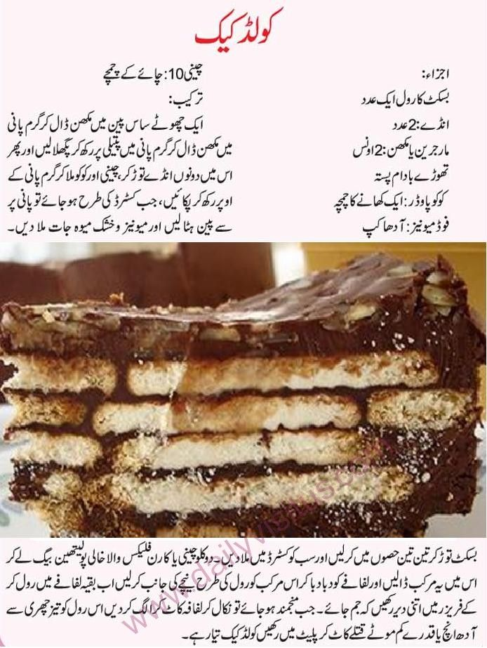 Easy and quick recipes for cakes