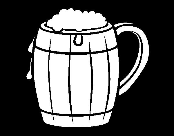 Dibujo De Jarra De Cerveza Para Colorear En Línea Imprimir