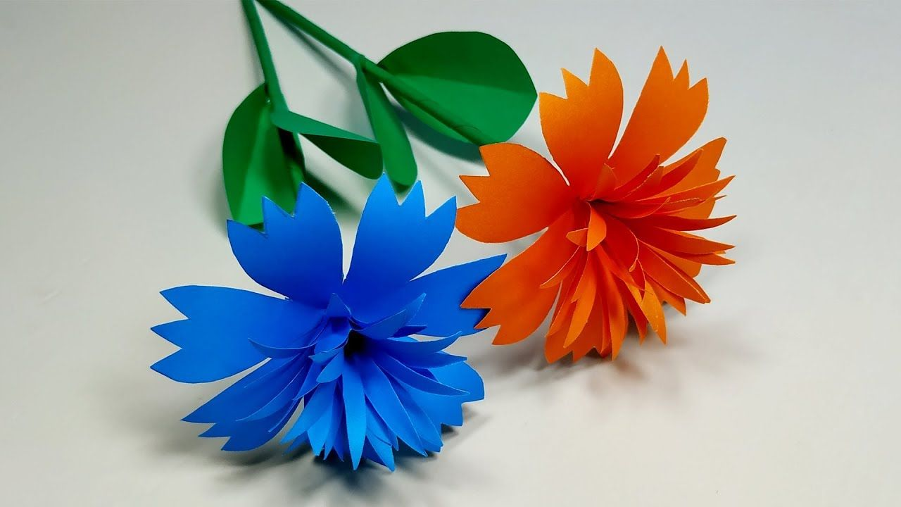 Beautiful paper flower making idea at home paper stick