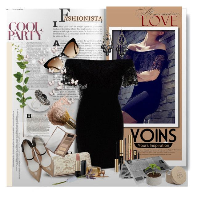 """YOINS CONTEST - Off Shoulder Dress (Win this product or $20 voucher)"" by astromeria ❤ liked on Polyvore featuring Maison Margiela, Yves Saint Laurent, Lancôme, Urban Decay and yoins"