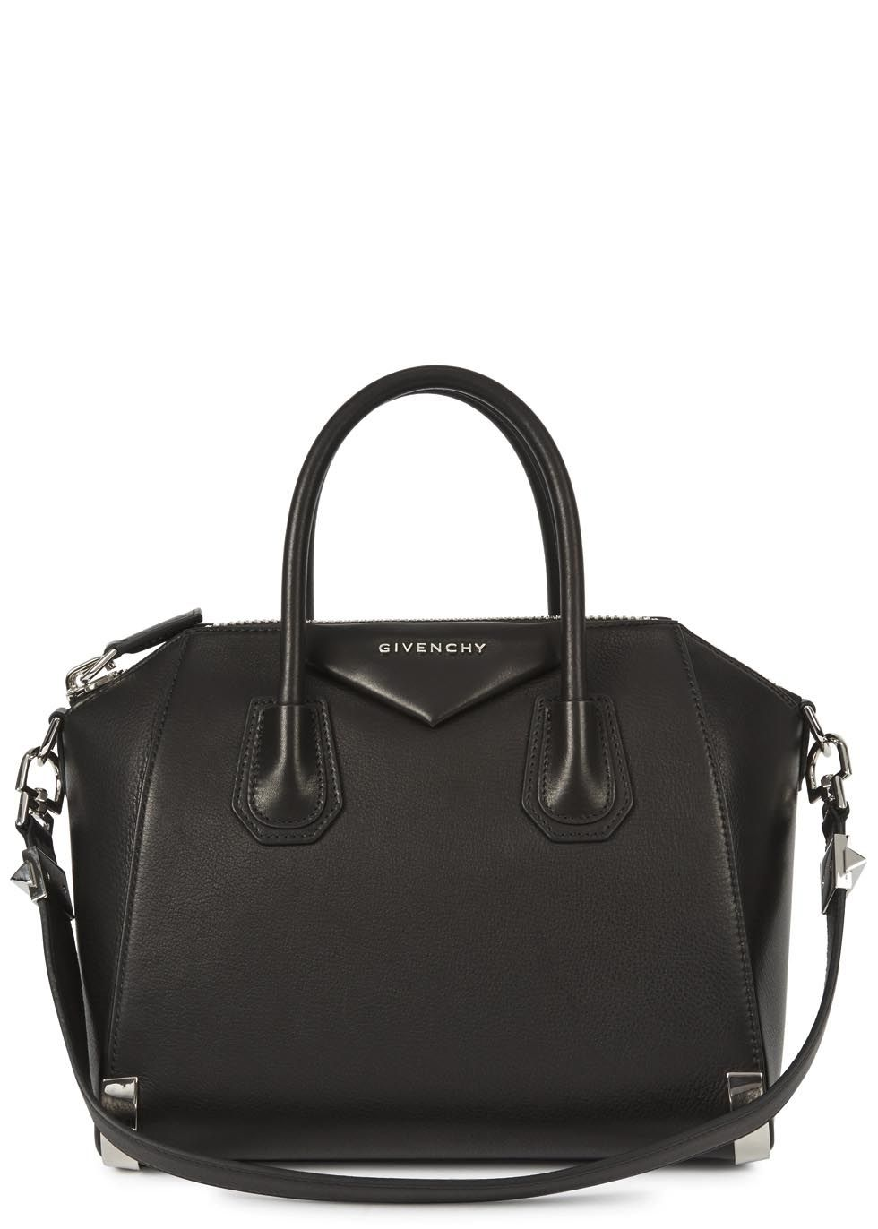 fdc76a599f48 Givenchy black grained leather tote Two top handles