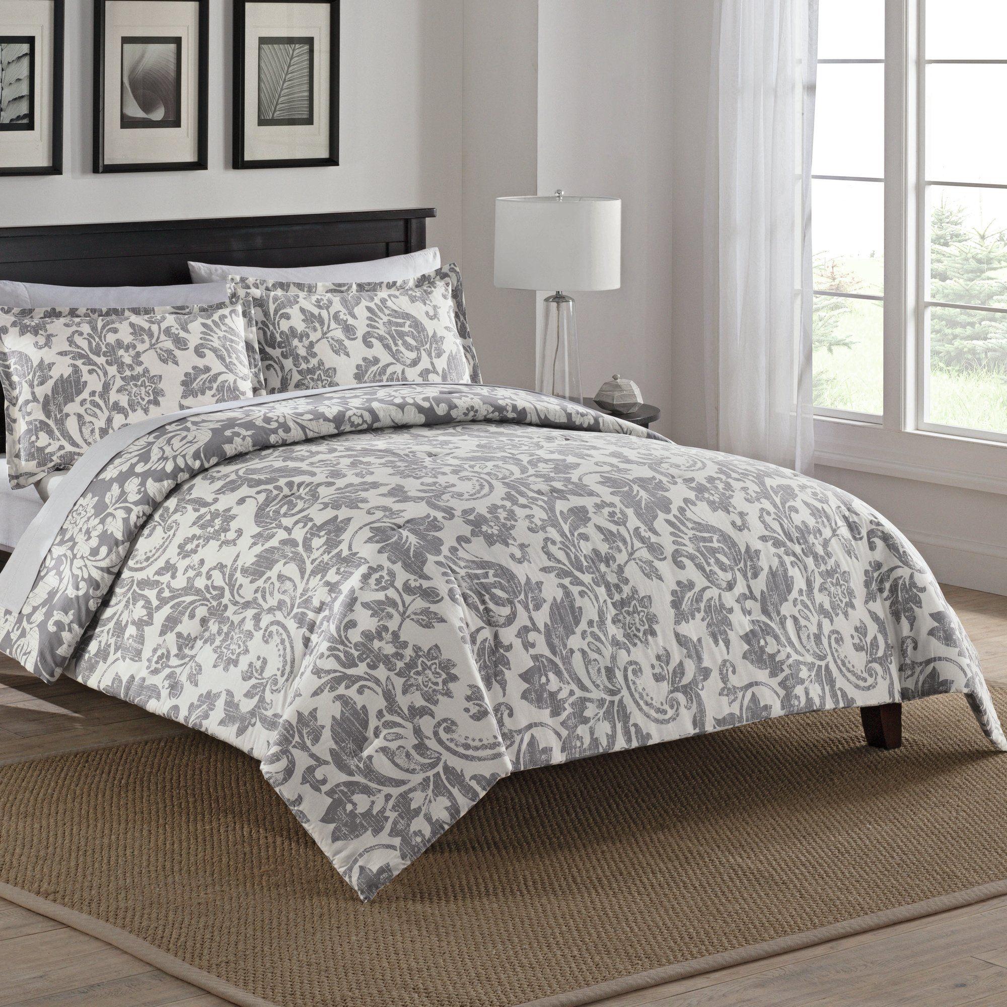 Bungalow 100 cotton 3 piece reversible comforter set