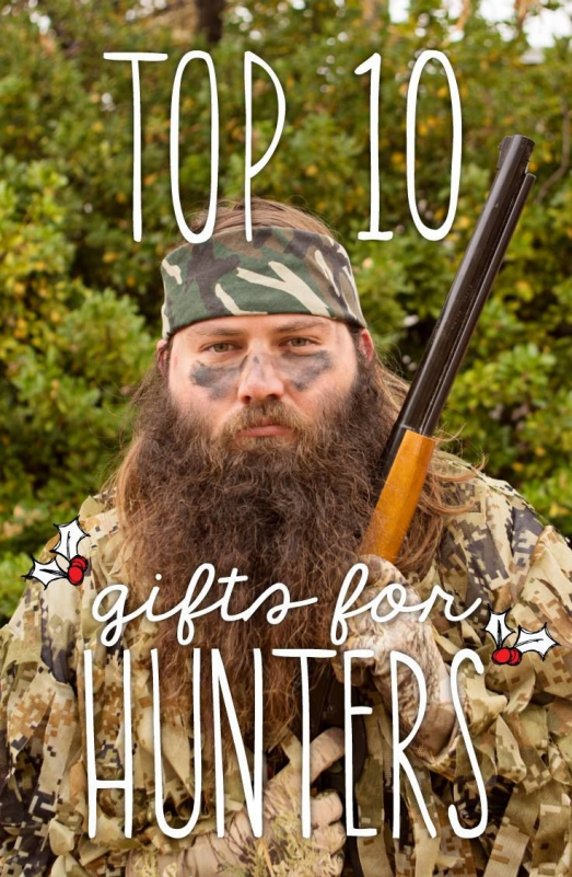 Top ten gifts for hunters. This is perfect to help you check off