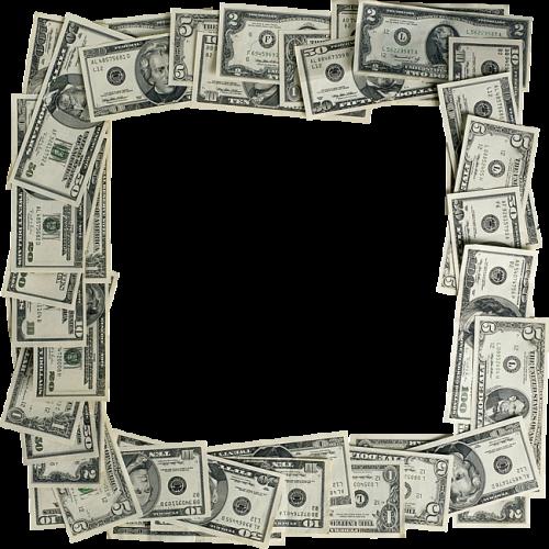 Moldura para fotos dinheiro