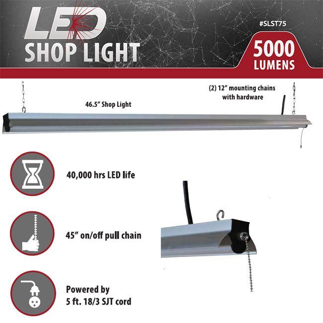 Keystone 5000 Lumen Shop Light Shop Accoutrements Led