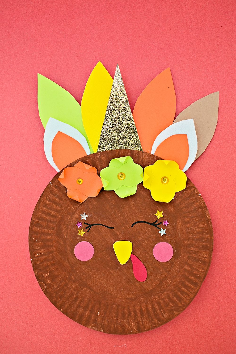 Unicorn Turkey Craft Paper Plate Kidscrafts Kidsart Paperplatecrafts Turkeycraft