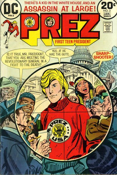 Prez #3 (1973 series) - cover by Jerry Grandenetti