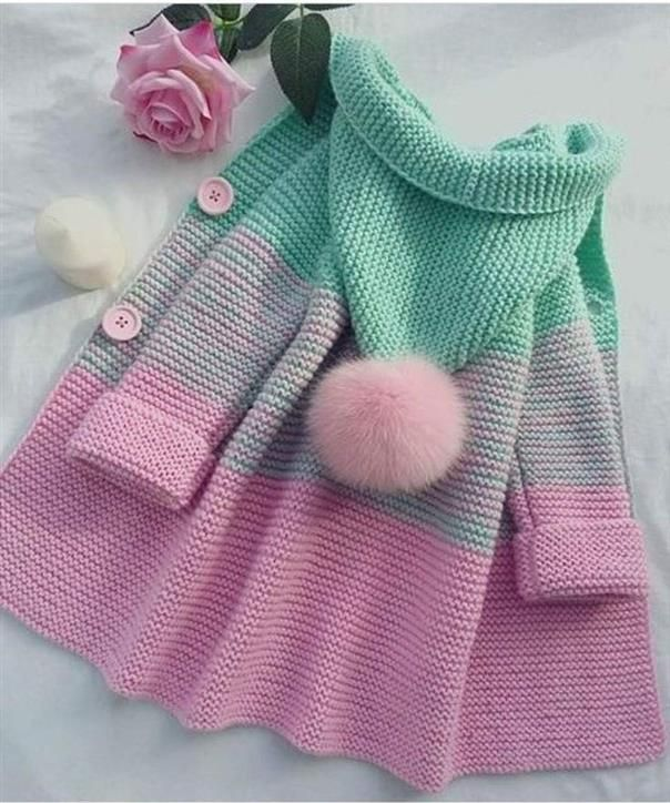 Chunky cardigan child's - Knitting Best #childrenssweaters