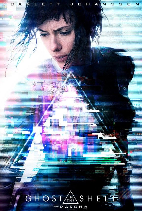 Das erste Poster zu Ghost in the Shell mit Scarlett Johansson. Seht den Trailer bei www.Kinofans.com