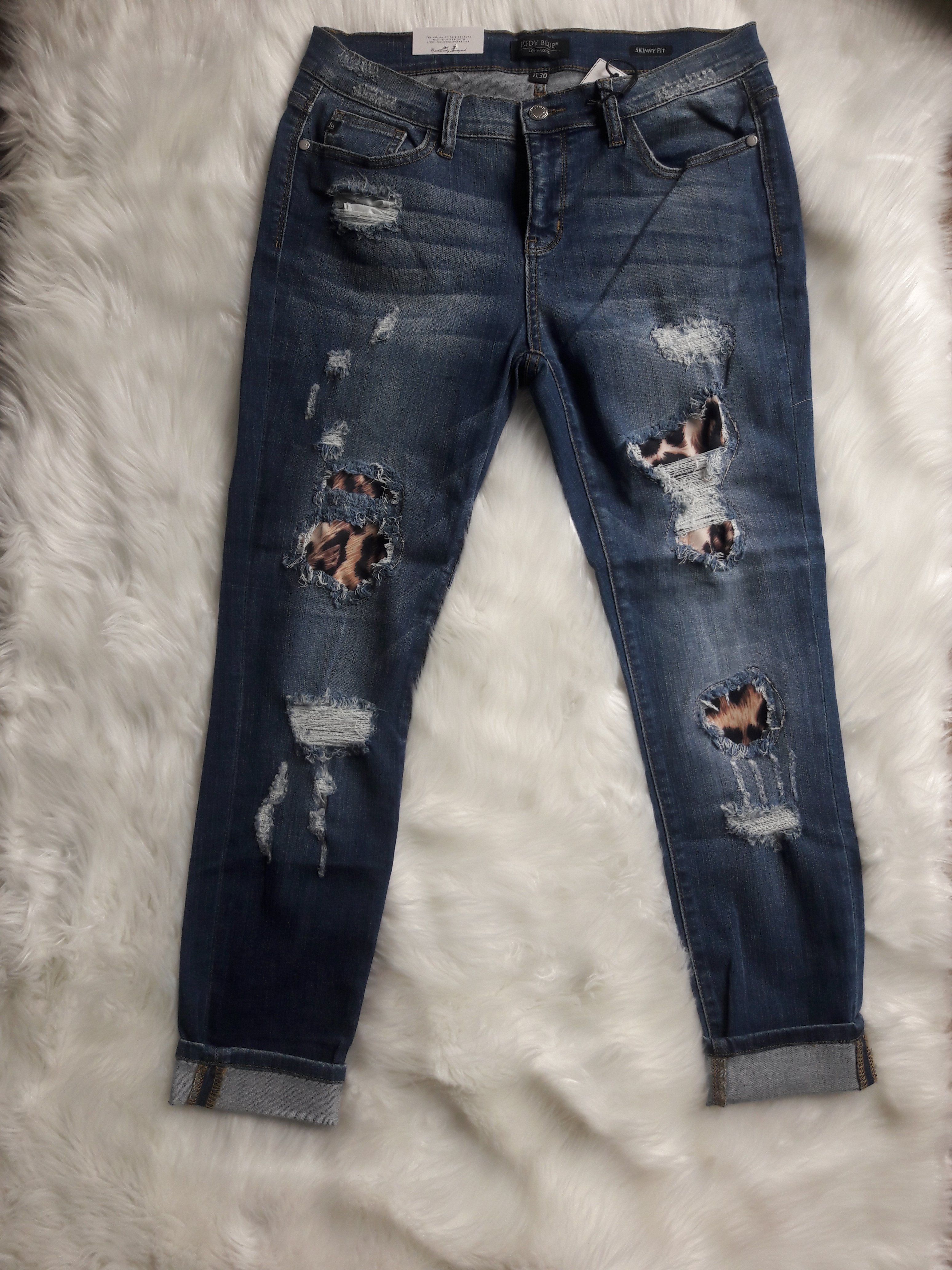 b9963b68b11e Judy Blue Leopard Patch Jeans | Products | Patched jeans, Jeans ...