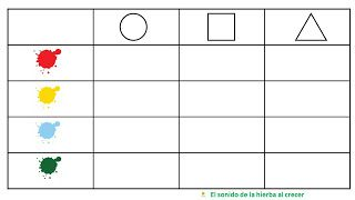 autismus arbeitsmaterial matrix 1 farben und formen farben und formen worksheets. Black Bedroom Furniture Sets. Home Design Ideas