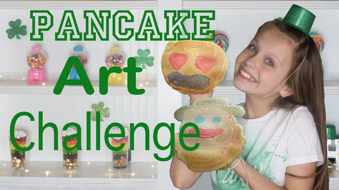 Pancake Art Challenge | St Patricks Day Challenge