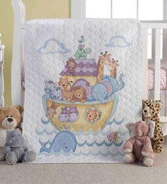 Bucilla ® Baby - Stamped Cross Stitch - Crib Ensembles - Noah's ... : bucilla cross stitch baby quilts - Adamdwight.com