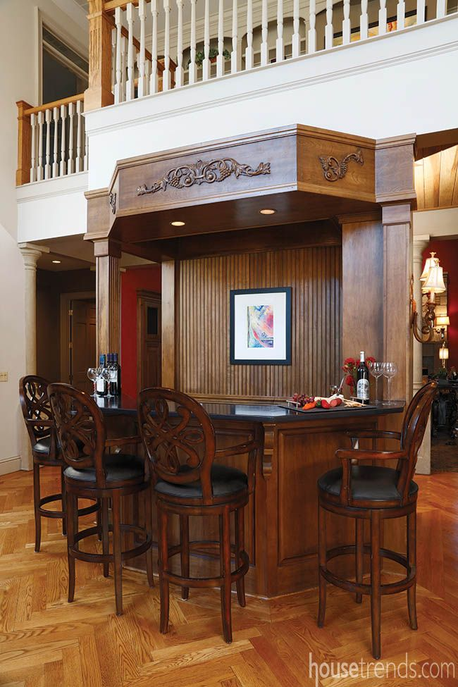 Home bar in a house for sale by @salemakerteam | Beautiful Home Bars ...