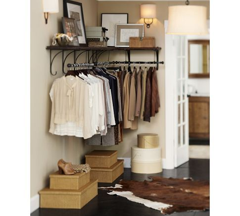 Great New York Shelf U0026 Clothes Rack | Pottery Barn In Place Of Pegs For Coats At
