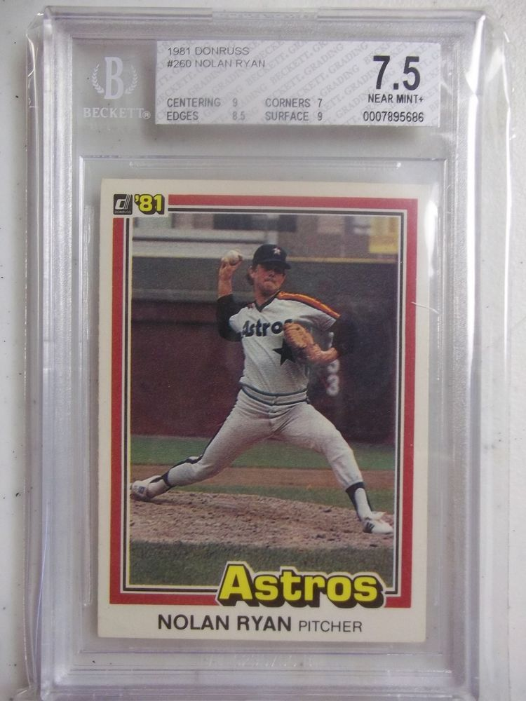 1981 Donruss Nolan Ryan BGS Graded NM 7.5 Baseball Card