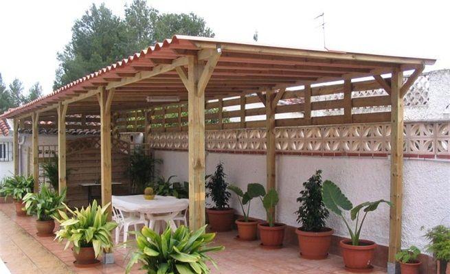 Tipos de techos para la terraza jardin pinterest las for Tipos de techos