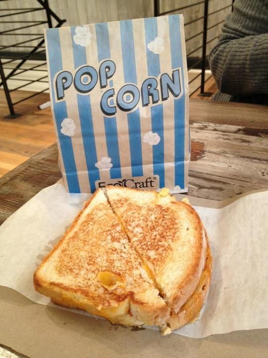 Grilled cheese and pop corn. | A photo of Grahamwich | Added by RichMilz