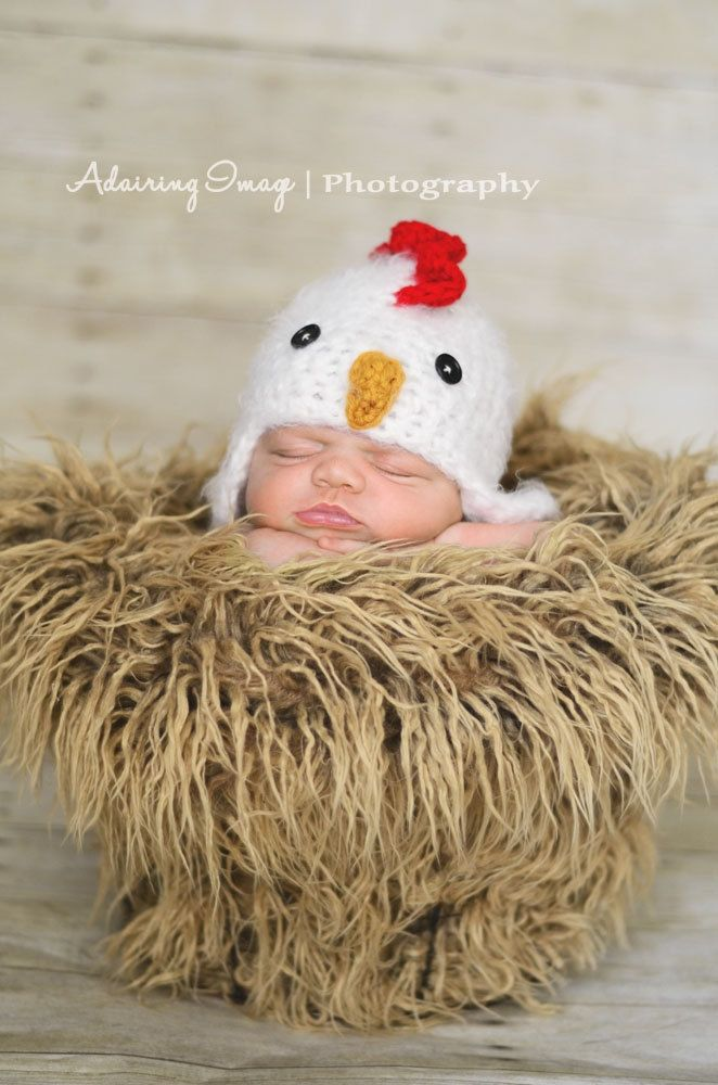 ab9189f3c5a POPULAR Newborn 3m 6m Fuzzy Chick Chicken Hat Crochet Soft Animal Photo  Prop Baby Boys Girls Farm HALLOWEEN CHRISTMAS Warm