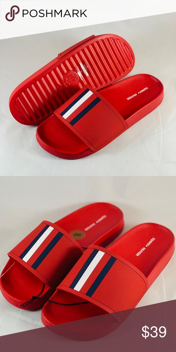 Tommy Hilfiger Mens Slides Brand New Without Box Tommy Hilfiger Shoes Sandals Flip Flops Tommy Hilfiger Tommy Hilfiger Shoes Hilfiger