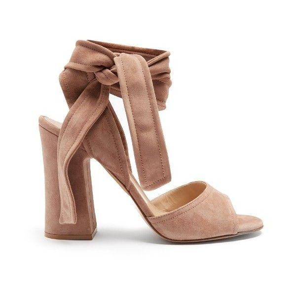 8dce99e4615c Gianvito Rossi Ankle-tie suede sandals (42