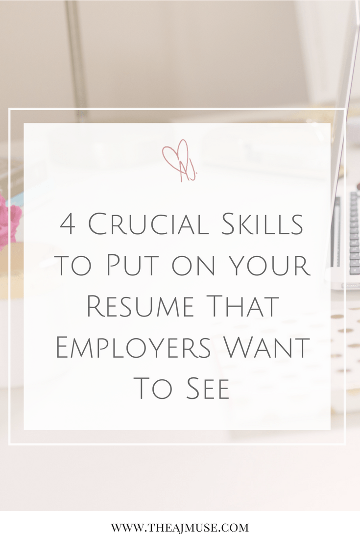 What To Put On A Resume For Skills Extraordinary 4 Crucial Skills To Put On Your Resume And Cover Letter That Design Decoration