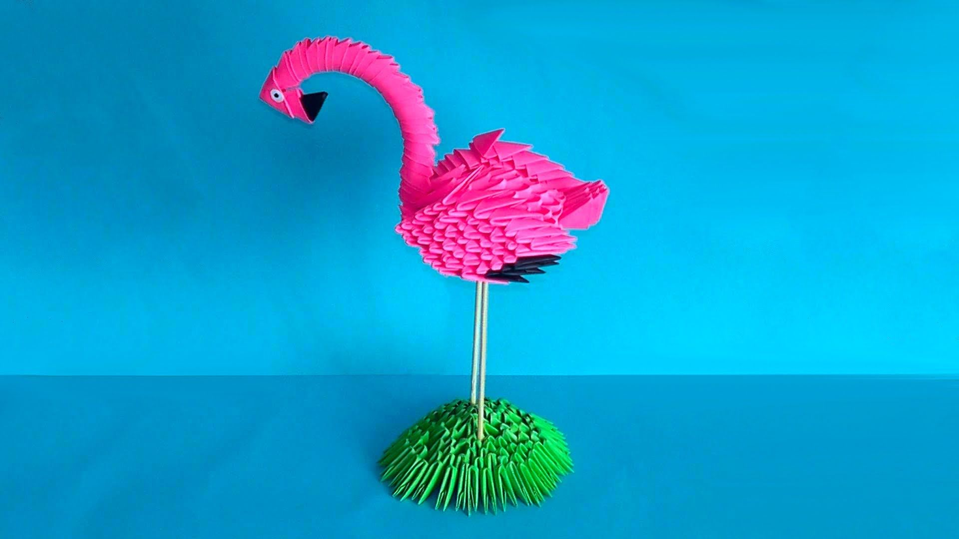 How to make 3d origami bird flamingo master class tutorial http how to make 3d origami bird flamingo master class tutorial http jeuxipadfo Images