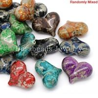 Akrylátové Dištančné Korálky Heart Mixed 3x2.4cm, otvorov: cca 2,2 mm, 20ks (B27569) 8seasons