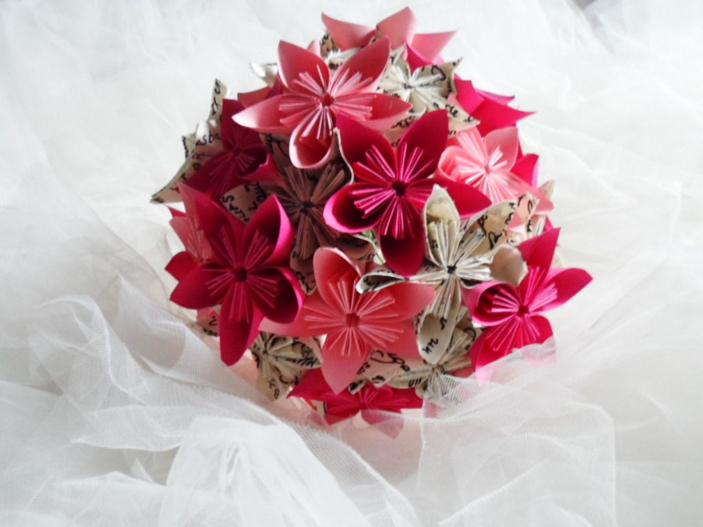 Faire un bouquet de fleurs en origami for Bouquet de fleurs photo