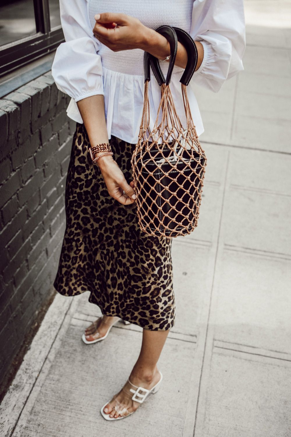 Smocked Top and Leopard Skirt | Fashion, Womens fashion chic