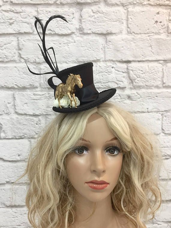 Horse Mini Top Hat Horse Racing Hat Horse Fascinator 8b895c18889