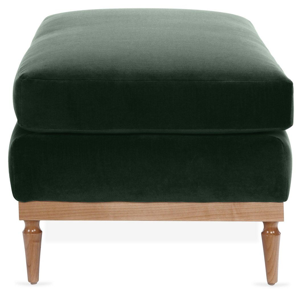 Fantastic Sutton Ottoman Forest Green Velvet One Kings Lane Theyellowbook Wood Chair Design Ideas Theyellowbookinfo