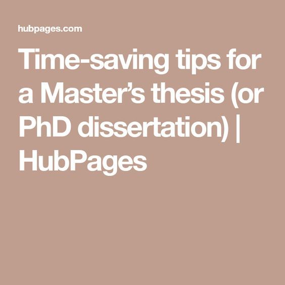 Masters dissertation services length