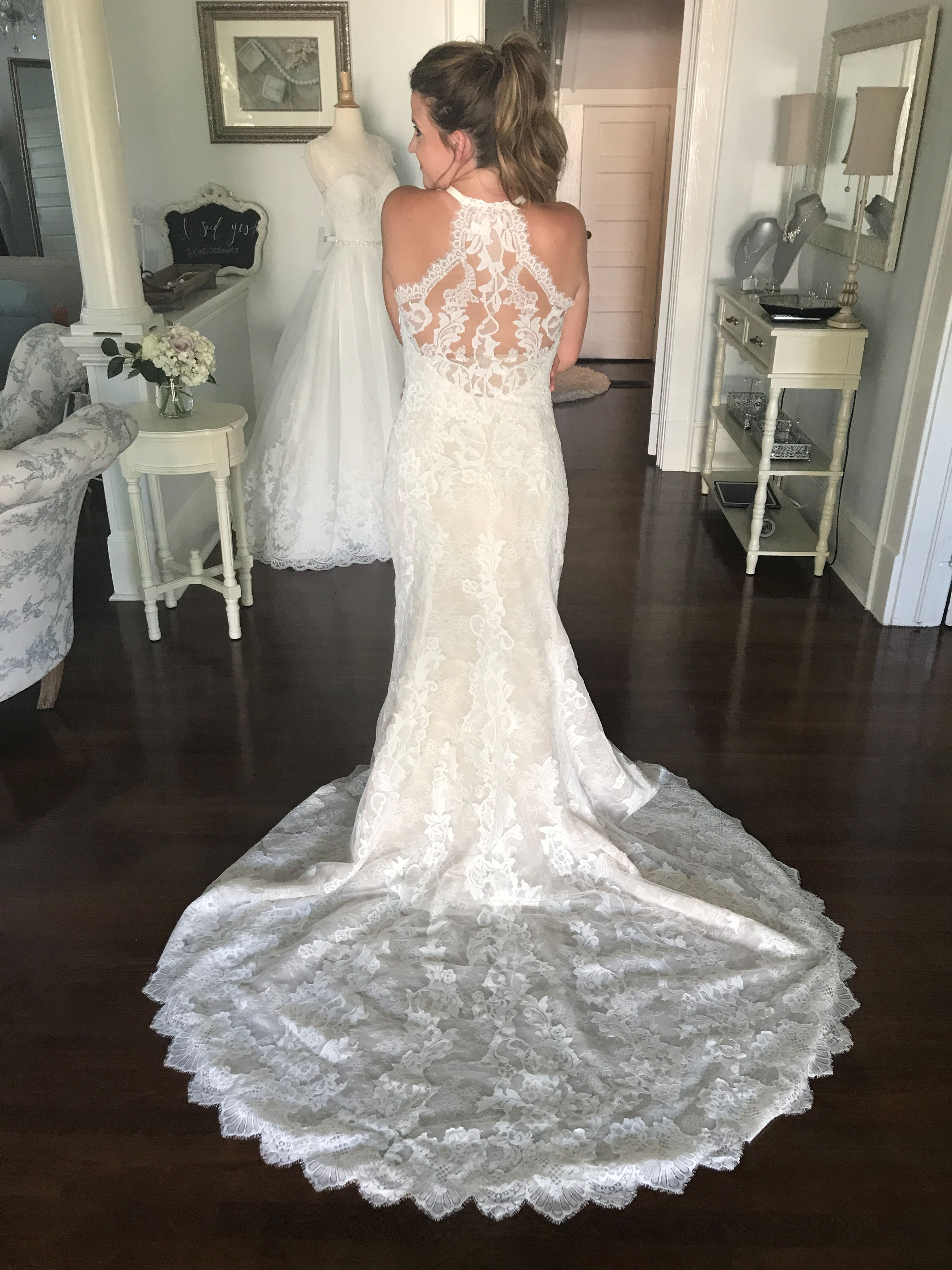 Aspen Full Lace Fit N Flare Wedding Dress With Amazing Lace Train Fit N Flare Wedding Dress Wedding Dresses Atlanta Wedding Dresses [ 5376 x 4032 Pixel ]