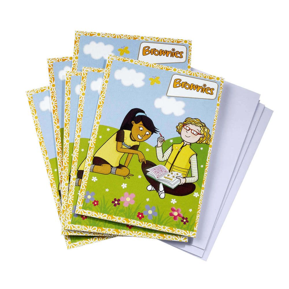 1 x brownie birthday card brownies guiding uniform