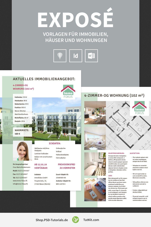 Expose Vorlagen Fur Immobilien Hauser Und Wohnungen Immobilien Vorlagen Und Immobilienanzeigen