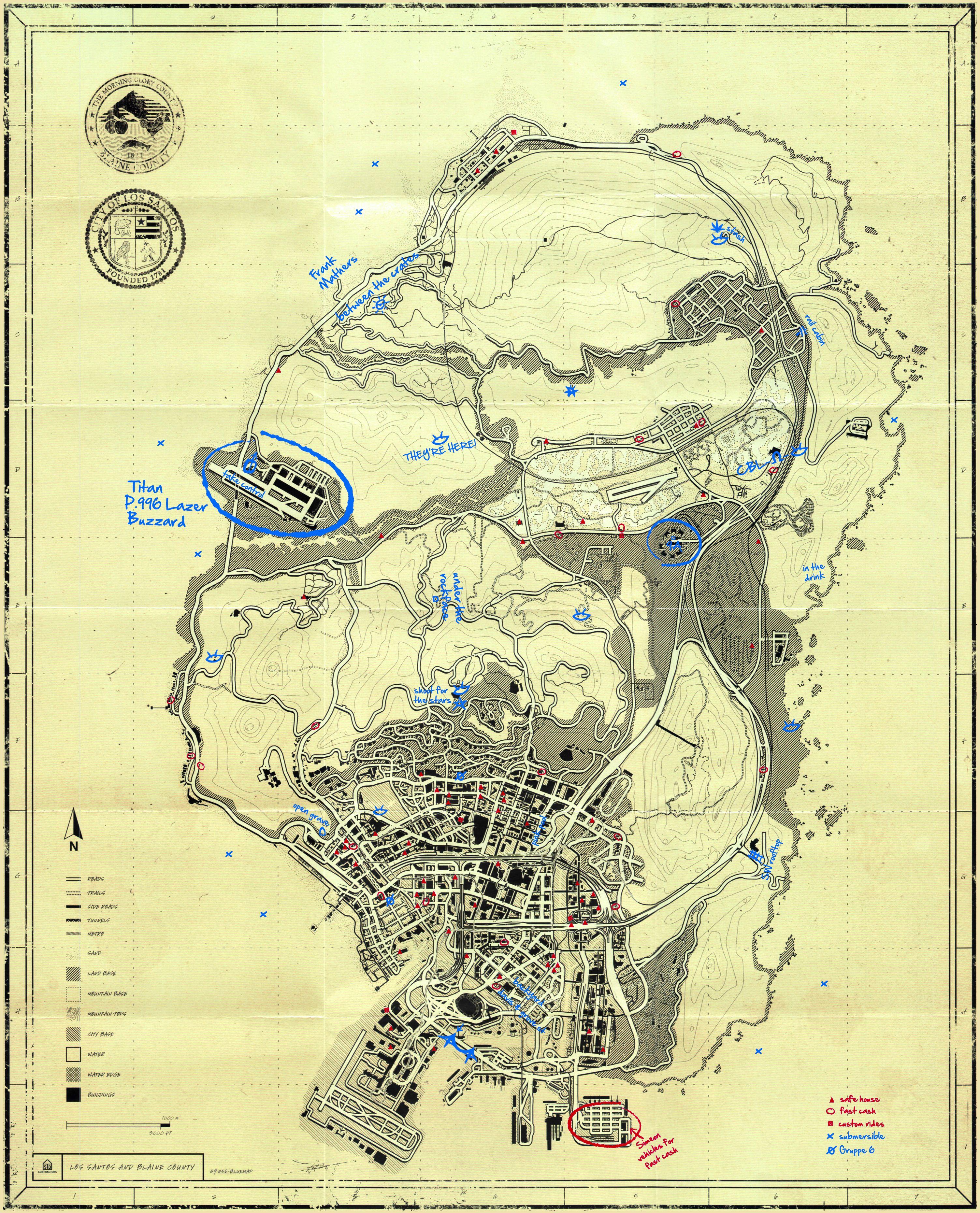 T.P.E Blueprint Map Secrets