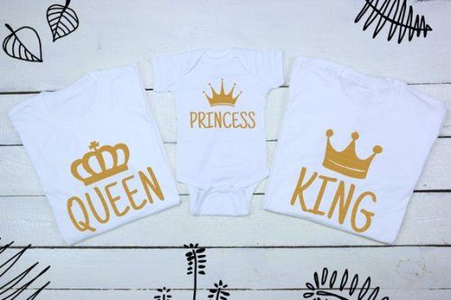 654e45cfe Get It Now King Queen Princess Matching Family T-Shirts Royal ...