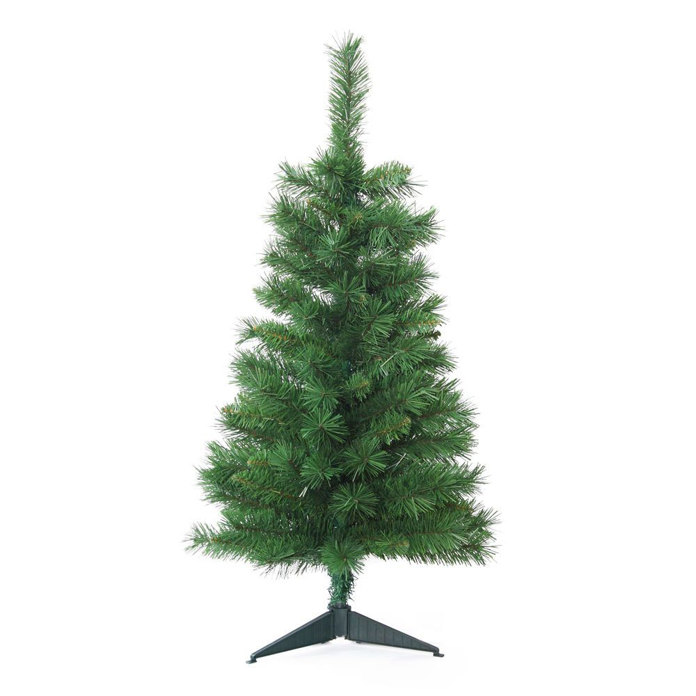 3 christmas tree artificial tall fake xmas green stand table top decorations