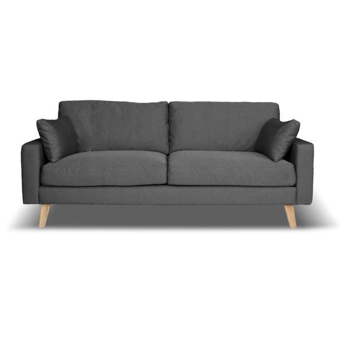 CANAPÉ SOFA DIVAN Canapé Fixe Places Switsofa Ekero Gris - Canapé divan